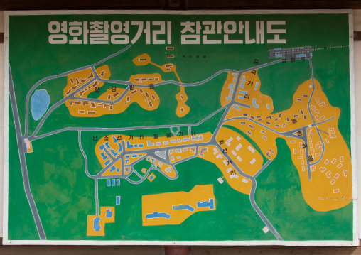 Map of the Pyongyang film studio, Pyongan Province, Pyongyang, North Korea