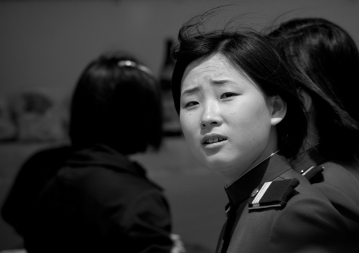 North Korean woman soldier, Pyongan Province, Pyongyang, North Korea