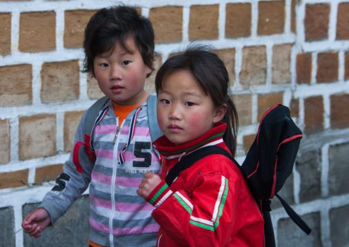 Portrait of a North Korean girls, North Hwanghae Province, Kaesong, North Korea