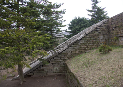 Manwoldae royal palace stairs ruins, North Hwanghae Province, Kaesong, North Korea