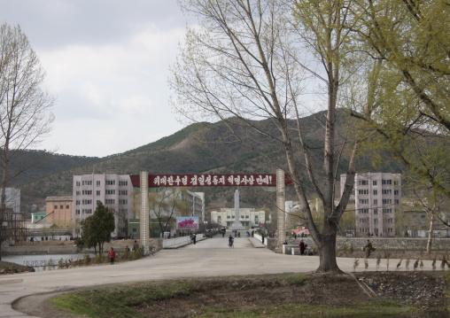 Bridge in the town, Pyongan Province, Pyongyang, North Korea