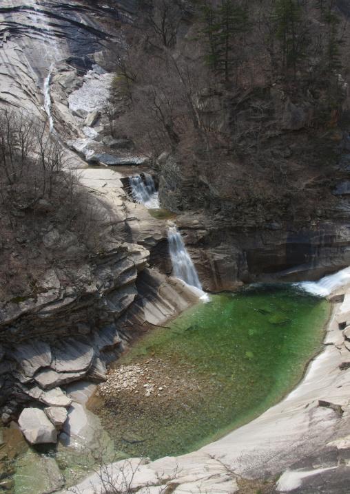 Waterfall and green pool, Kangwon-do, Mount Kumgang, North Korea