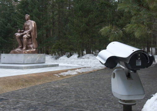 Kim il Sung statue in paektusan secret camp, Ryanggang Province, Samjiyon, North Korea