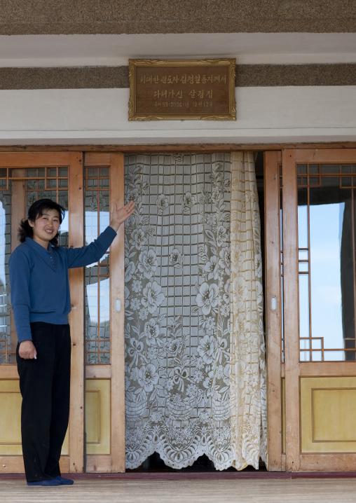 North Korean woman who had a visit of Kim Jong il in her house, North Hamgyong Province, Jung Pyong Ri, North Korea