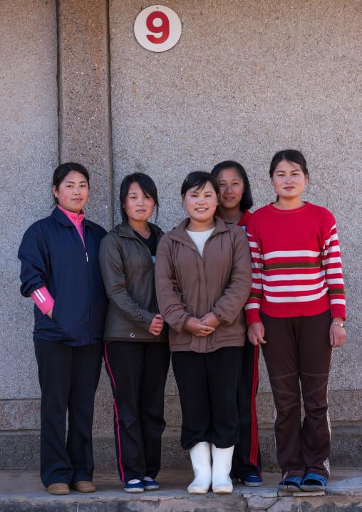 Portrait of North Korean peasants in a village, North Hamgyong Province, Jung Pyong Ri, North Korea