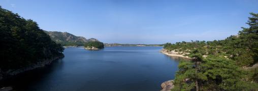 A lake among the mountains in samil lake, Kangwon-do, Kumgang, North Korea