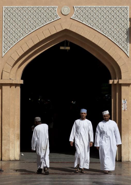 Men Walking Out Of Muscat Muttrah  Souk, Oman
