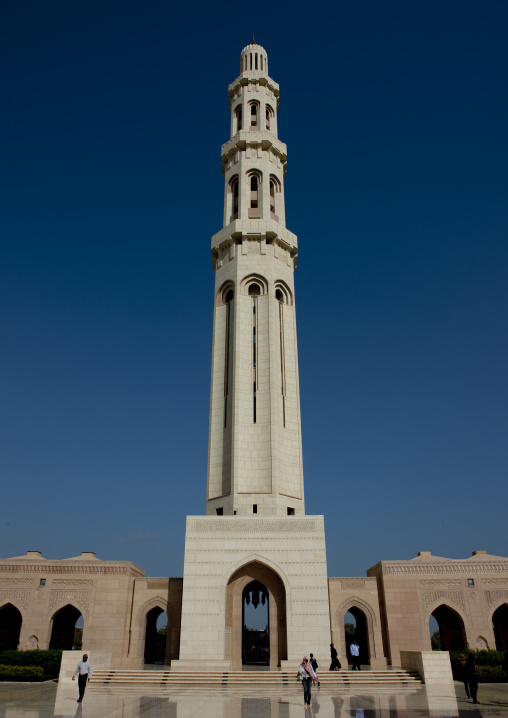 Minaret Of Sultan Qaboos Grand Mosque, Muscat, Oman