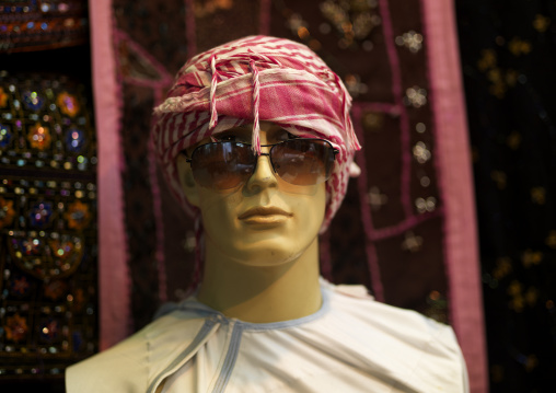 Model Dressing In Arabic Style And Wearing A Pair Of Sunglasses, Muttrah Souk, Muscat, Oman