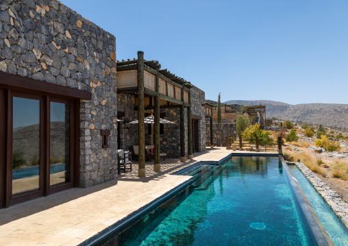 Alila jabal akhdar hotel villa with a pool, Al Hajar Mountains, Jebel Akhdar, Oman
