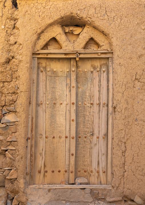 Omani wooden carved door, Ad Dakhiliyah Region, Al Hamra, Oman