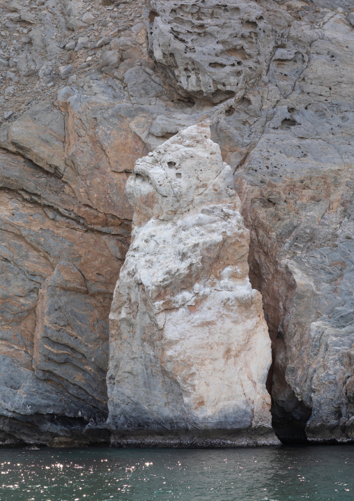 Rock with a fish shape, Musandam Governorate, Khasab, Oman