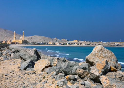 Mosque on the seaside, Musandam Governorate, Khasab, Oman