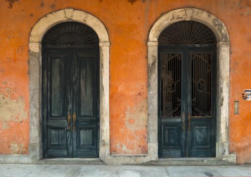 Panama, Province Of Panama, Panama City, Old Door In Casco Viejo