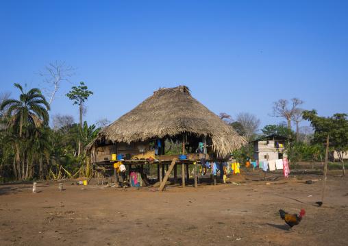 Panama, Darien Province, Alto Playona, Embera Indian House