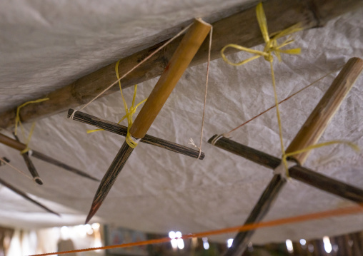Panama, San Blas Islands, Mamitupu, Wood Crosses Used By Shaman In Kuna Tribe To Protect A Family