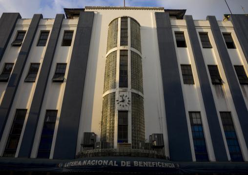 Panama, Province Of Panama, Panama City, Loteria Nacional Colonial Building In Casco Viejo