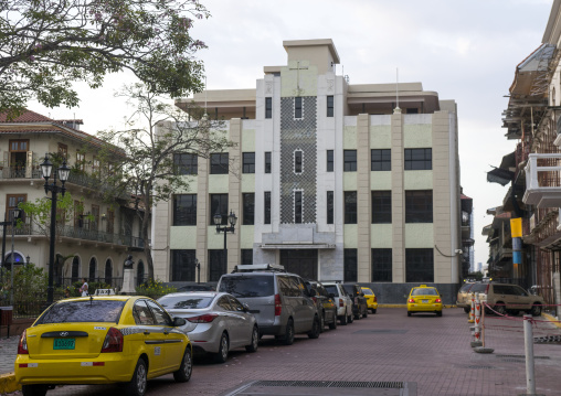 Panama, Province Of Panama, Panama City, Art Deco Architecture In Casco Viejo