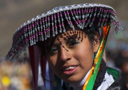 Qulla Dancer At Qoyllur Riti Festival, Ocongate Cuzco, Peru