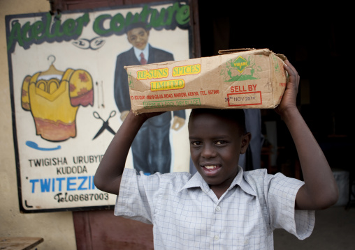 Rwandan boy in the market, Lake Kivu, Gisenye, Rwanda