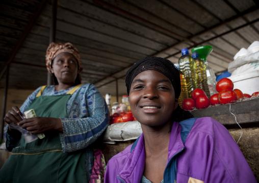 Rwandan women in the market, Lake Kivu, Gisenye, Rwanda