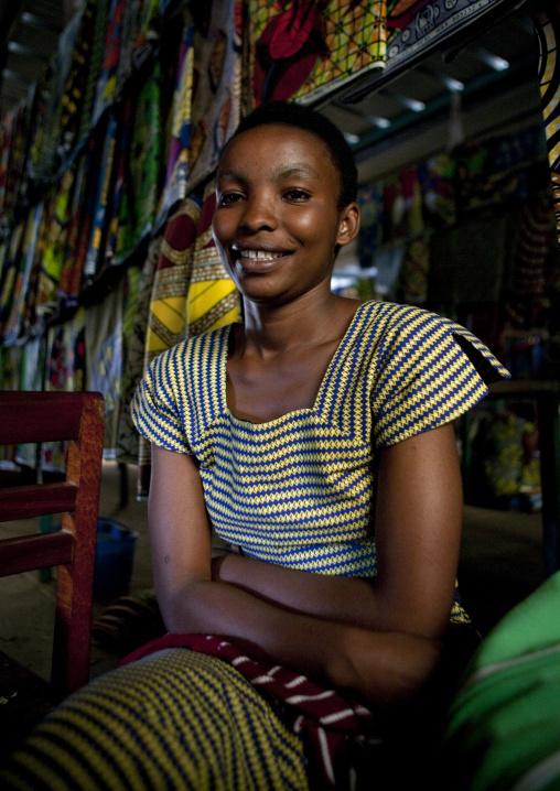 Rwandan woman in the market, Lake Kivu, Gisenye, Rwanda