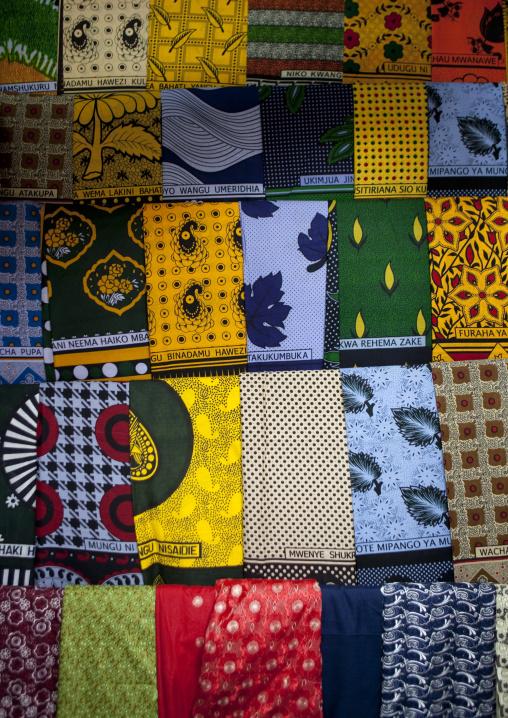 Wax sold in a tailor shop in the market, Lake Kivu, Gisenye, Rwanda