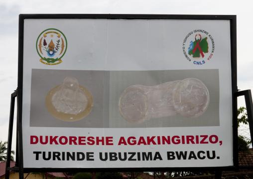 Aids campain billboard, Lake Kivu, Gisenye, Rwanda