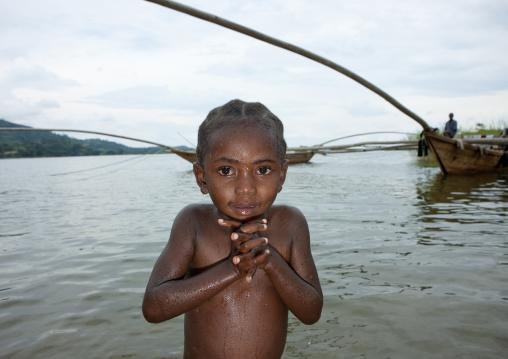 Rwandan girl, Lake Kivu, Gisenye, Rwanda