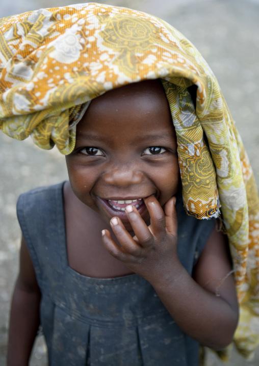Rwandan smiling girl, Lake Kivu, Gisenye, Rwanda