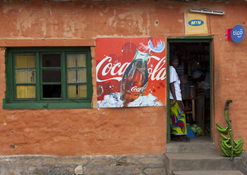 Coca cola advertisement on a bar, Western Province, Karongi, Rwanda