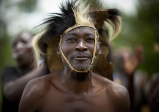 Traditional dancers during a folklore event in a village, Lake Kivu, Nkombo, Rwanda