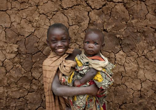 Batwa tribe children, Western Province, Cyamudongo, Rwanda