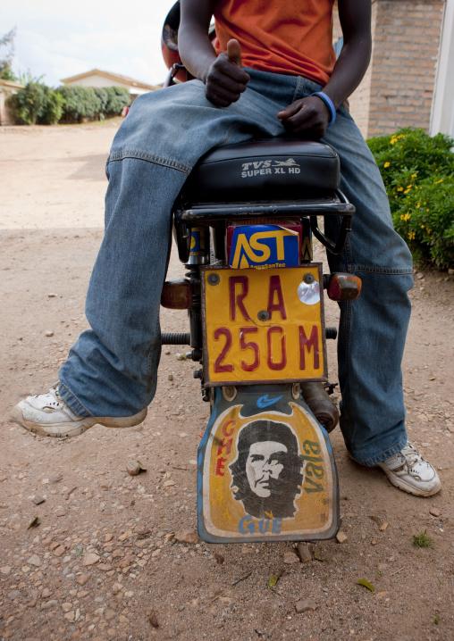 Che gevara logo on a motorbike, Kigali Province, Kigali, Rwanda