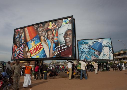 Advertisement billboards in the street, Kigali Province, Kigali, Rwanda