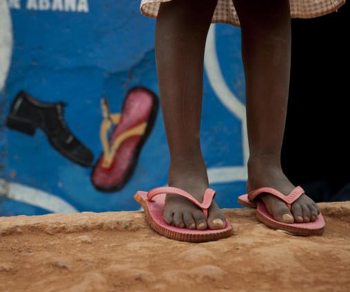 Rwandan child slippers, Kigali Province, Kigali, Rwanda
