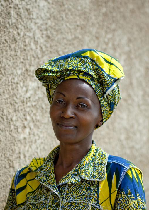 Rwandan woman in traditional clothing, Kigali Province, Kigali, Rwanda