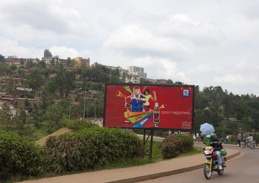Advertisement billboard along a road, Kigali Province, Kigali, Rwanda