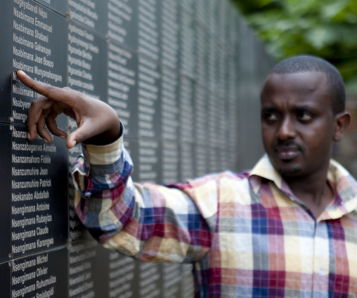 Names of the deads in gisozi genocide memorial site, Kigali Province, Kigali, Rwanda