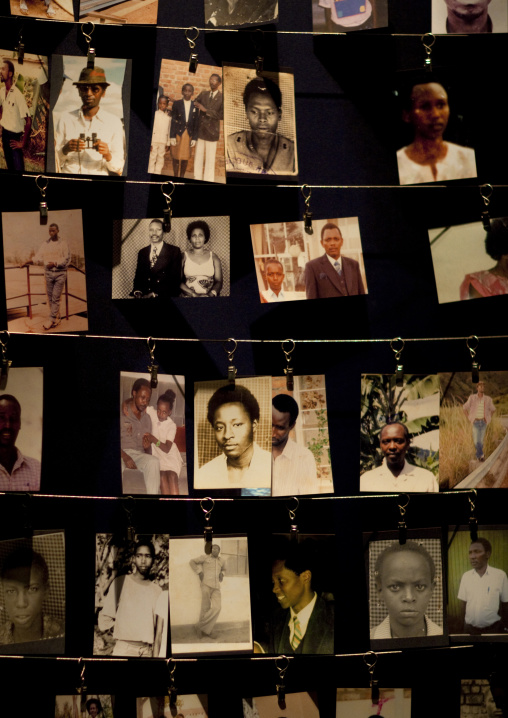 Pictures of dead people in gisozi genocide memorial site, Kigali Province, Kigali, Rwanda