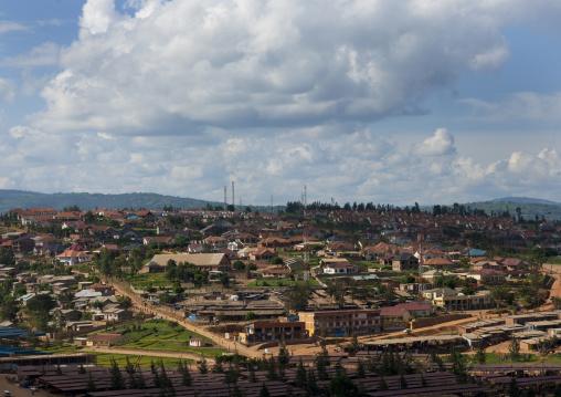 City neighbourhood in the hills, Kigali Province, Kigali, Rwanda