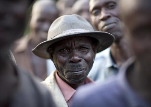 Rwandan men in the countryside, Northwest Province, Rehengeri, Rwanda
