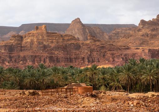 Ancient well in jabal Ikmah, Al Madinah Province, Alula, Saudi Arabia