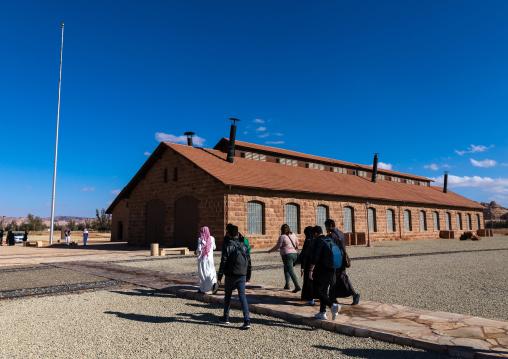Hejaz railway station workshop building in Madain Saleh, Al Madinah Province, Alula, Saudi Arabia