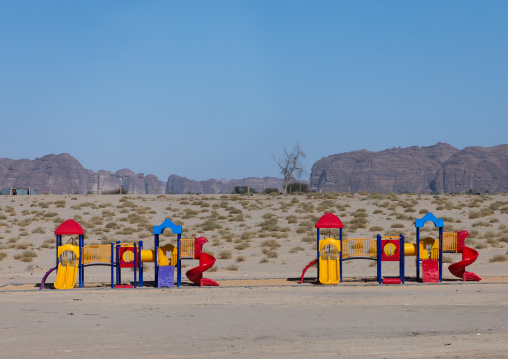 Playground along a road, Al Madinah Province, Alula, Saudi Arabia