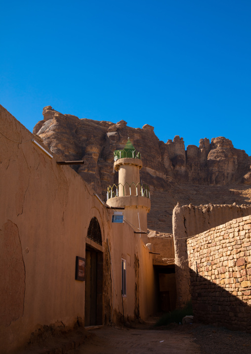 Mosque in the old town, Al Madinah Province, Alula, Saudi Arabia