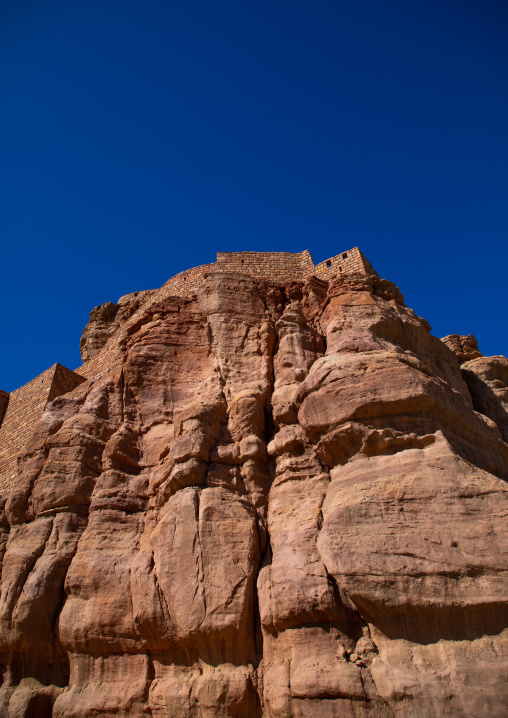 Old fort at the top of a hill, Al Madinah Province, Alula, Saudi Arabia