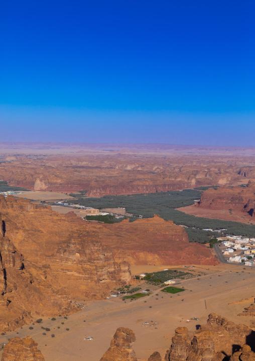 Oasis in the middle of the wadi al-Qura, Al Madinah Province, Alula, Saudi Arabia