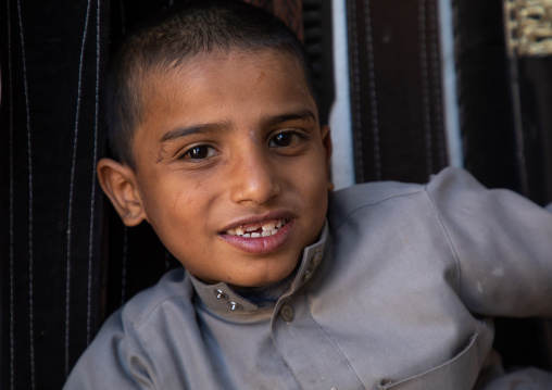 Portrait of a yemeni refugee boy, Najran Province, Najran, Saudi Arabia