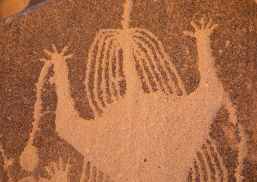 Petroglyphs of Aliya the goddess of fertility, Najran Province, Thar, Saudi Arabia
